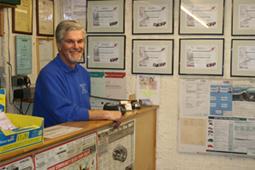 Mechanic Barry Nicoll of Burlington Motors Mechanics in West London